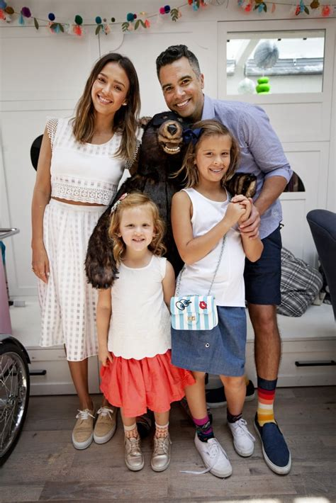 Jessica Alba and Her Family at a Pair of Thieves Event