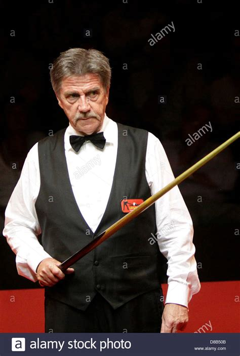 veteran Canadian snooker player Cliff Thorburn at a