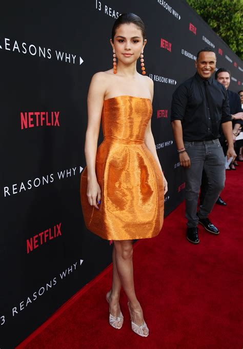 Selena Gomez Looks Great at the 13 Reasons Why Premiere
