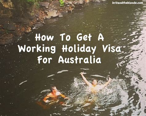 How To Get An Australian Working Holiday Visa - The Brit