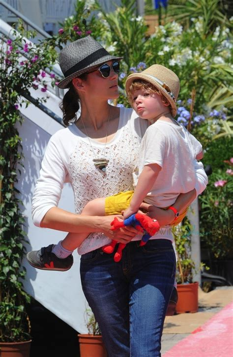 Marion Cotillard with son Marcel Canet in Cannes during