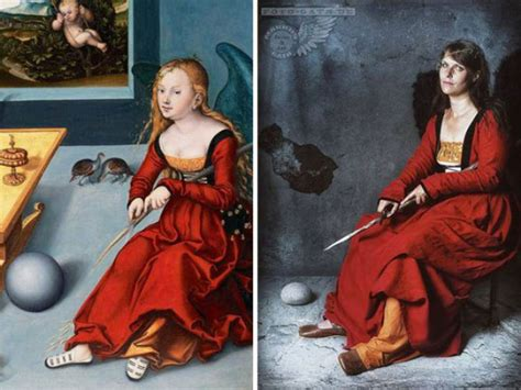 Costumes and headdresses, recreated by the famous painting