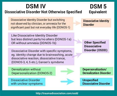 Other Specified Dissociative Disorder and DDNOS Types