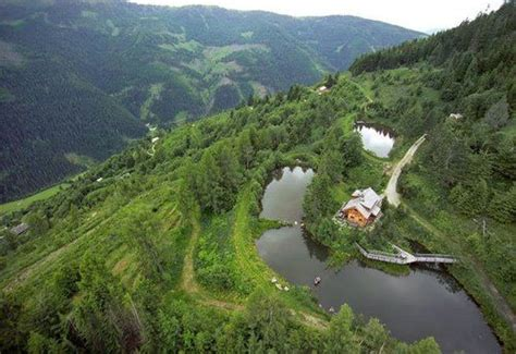 Sepp Holzer's permaculture farm sits along steep