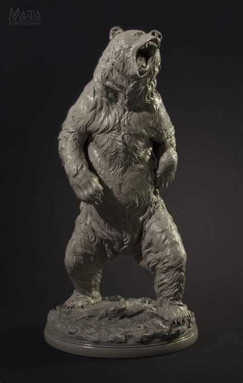 33cm Tall, Extremely Detailed Bear, Printed on a Form 1