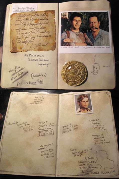Nathan Drake's Journal Perfectly Replicated