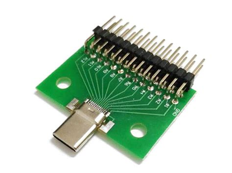 Type-C Test Male + PCB Board with Pin Header
