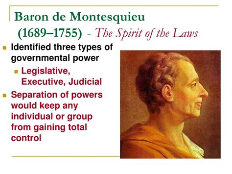 PPT - Rousseau and Montesquieu: The Impact of Their Ideas