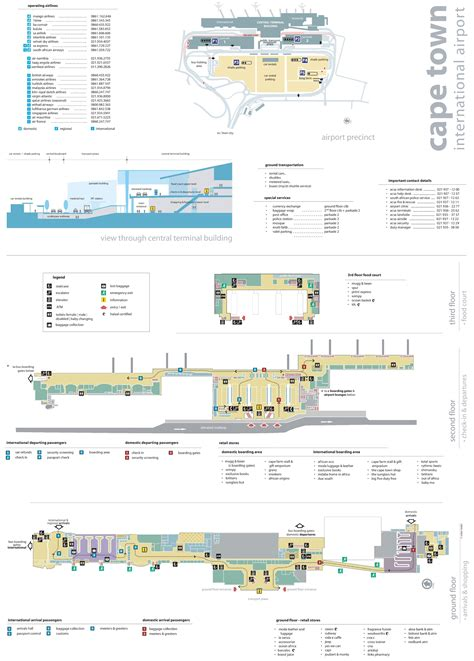 Cape Town Airport map