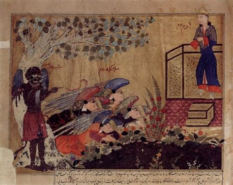 Adam and the Angels watched by Iblis