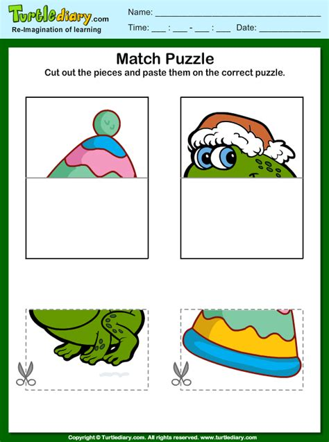 Cut and Paste Picture Puzzle Worksheet - Turtle Diary