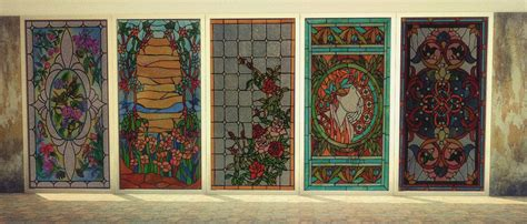 Sims 4 CC's - The Best: 22 Stained Glass Windows by Daer0n
