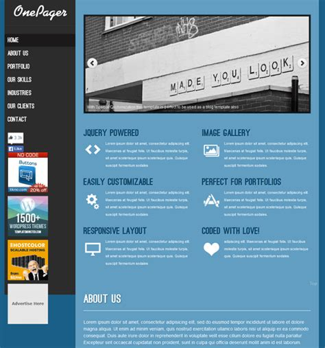 20 of the Best Free & Premium One Page WordPress Themes – down