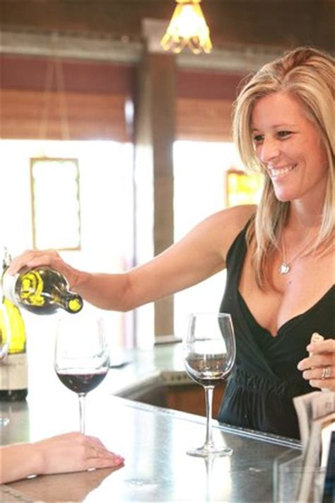 Laura Wright working in the tasting room
