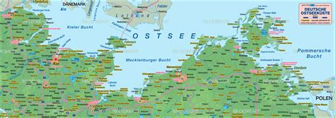 Map of Baltic Sea, german coast (Germany) - Map in the
