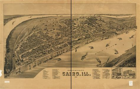 Perspective map of the city of Cairo, Ill