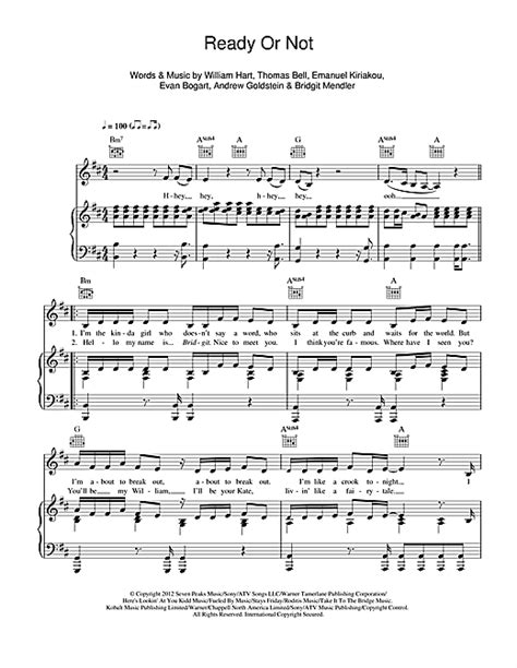 Ready Or Not sheet music by Bridgit Mendler (Piano, Vocal