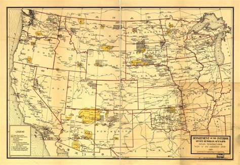 Indian Reservations west of the Mississippi River
