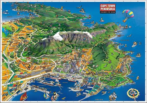 infographic of Cape Town- only 50 minutes from La Clé des